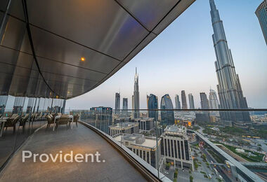 Vacant | Big Terrace with full Burj View