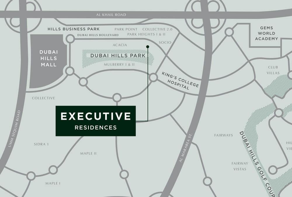التسهيلات التنفيذية location_map