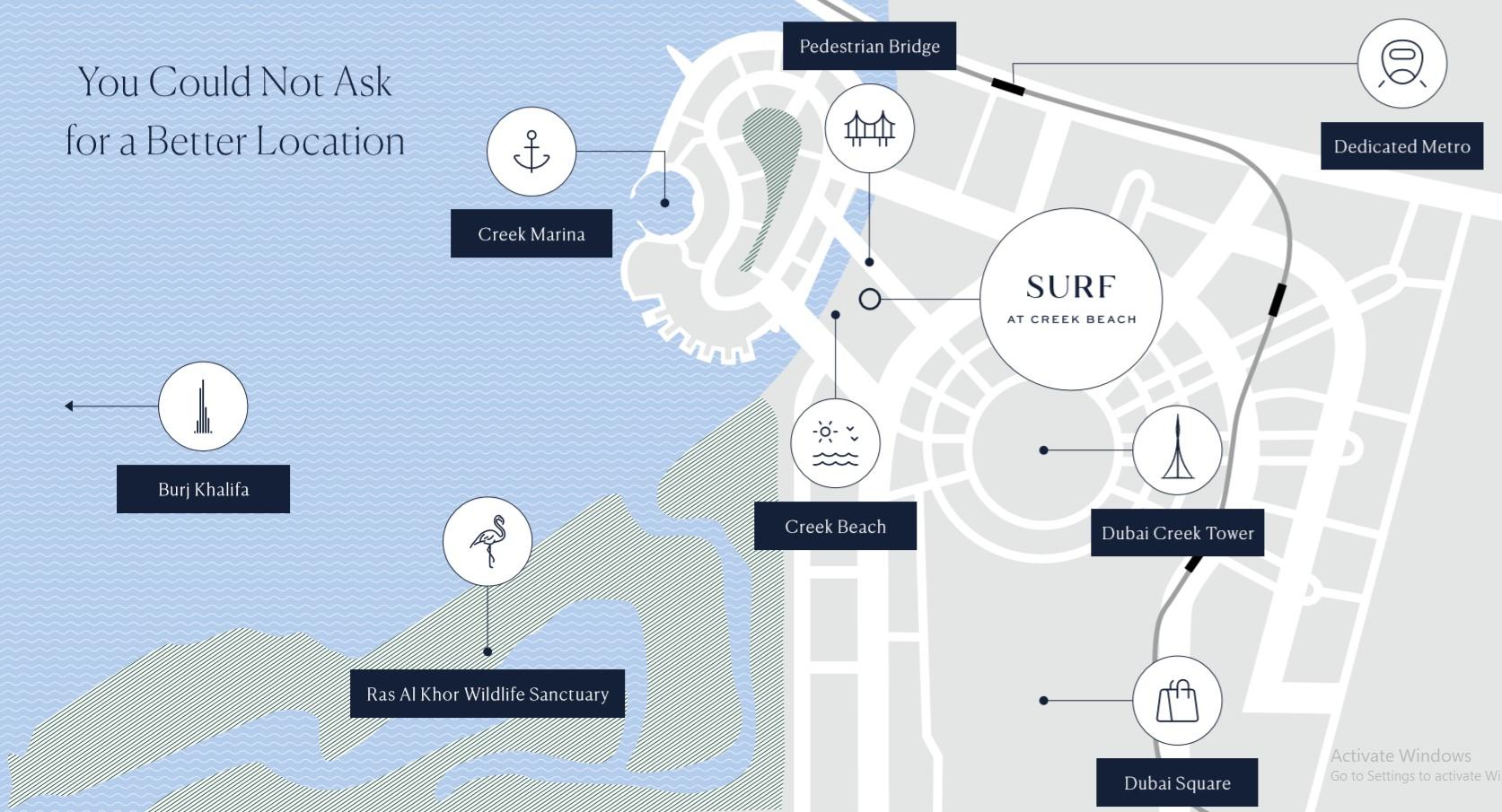 location map surf creek beach