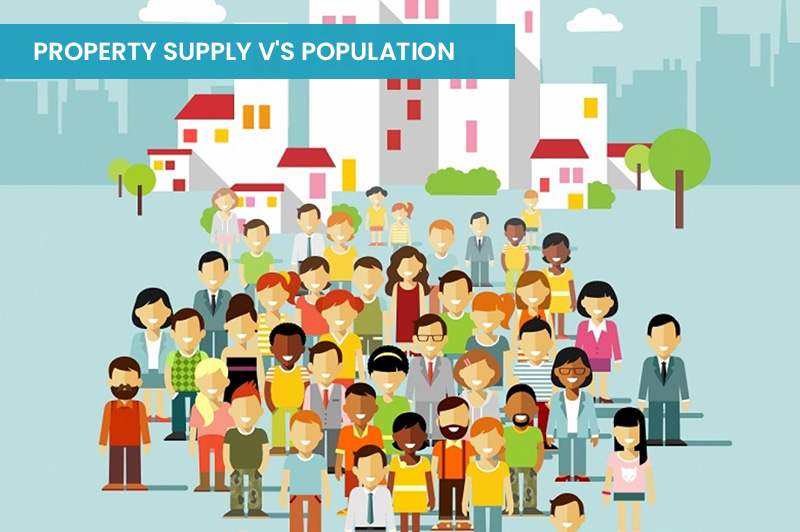 Property Supply v's Population