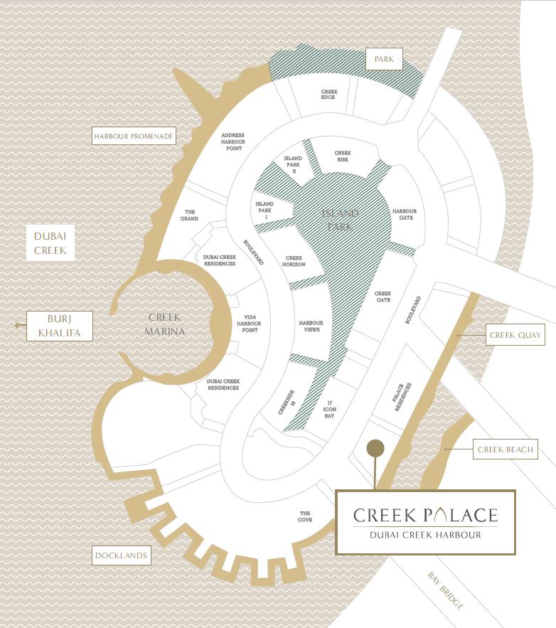 map - Creek Palace at Dubai Creek Harbour