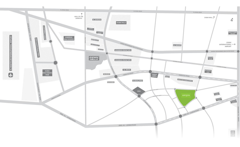 地图3-Akoya氧气厂的Adria Villas