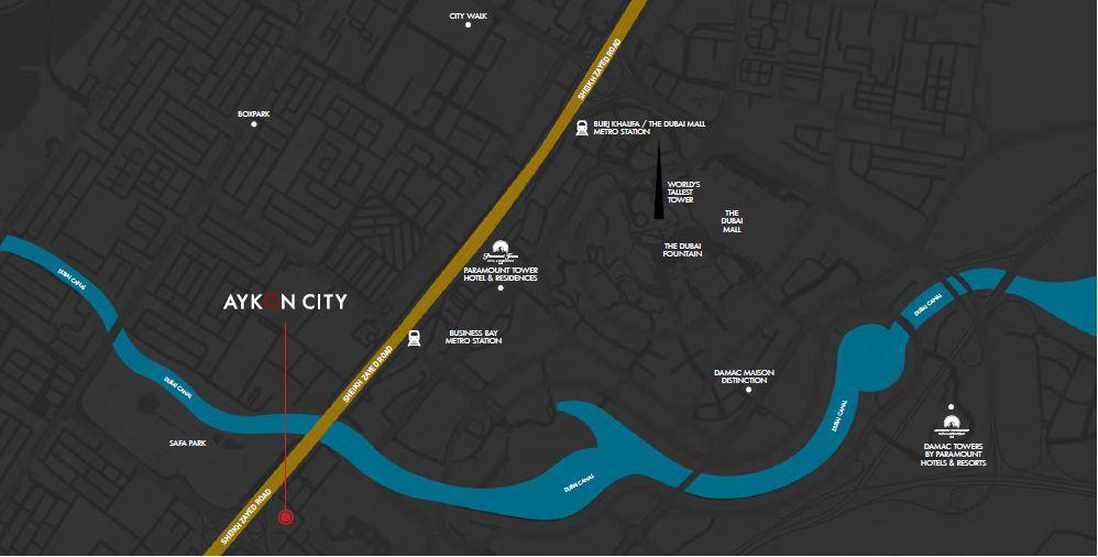 خريطة 5 - ايكون سيتي من داماك