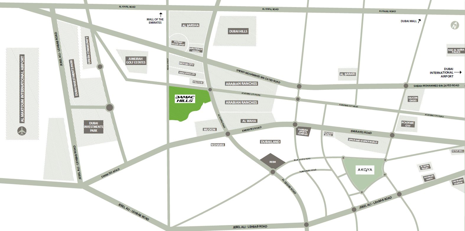 map 6 - DAMAC Villas by Paramount Hotels & Resorts Dubai