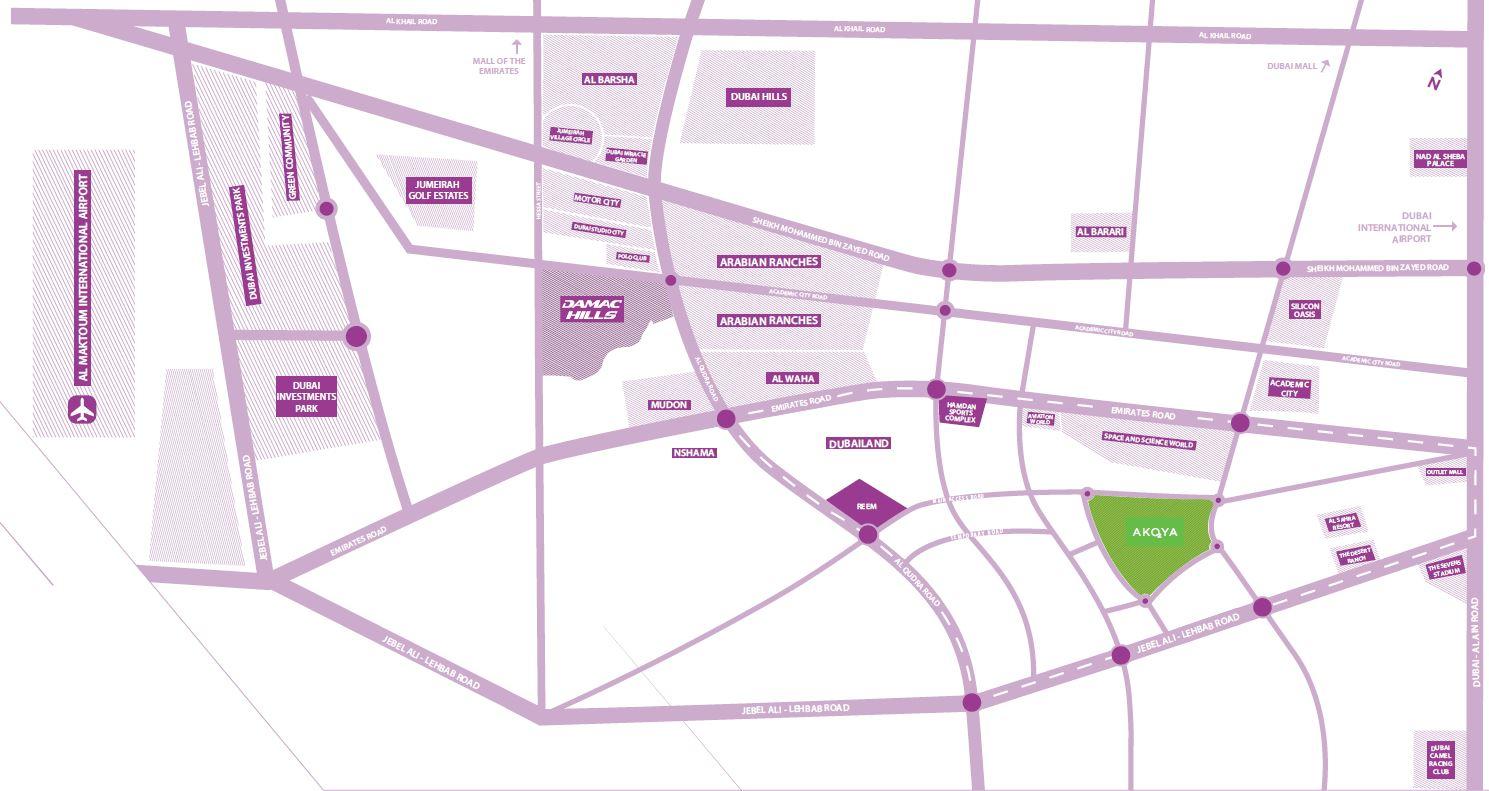 карта 8 - Виллы Just Cavalli в Акойя, Дамац
