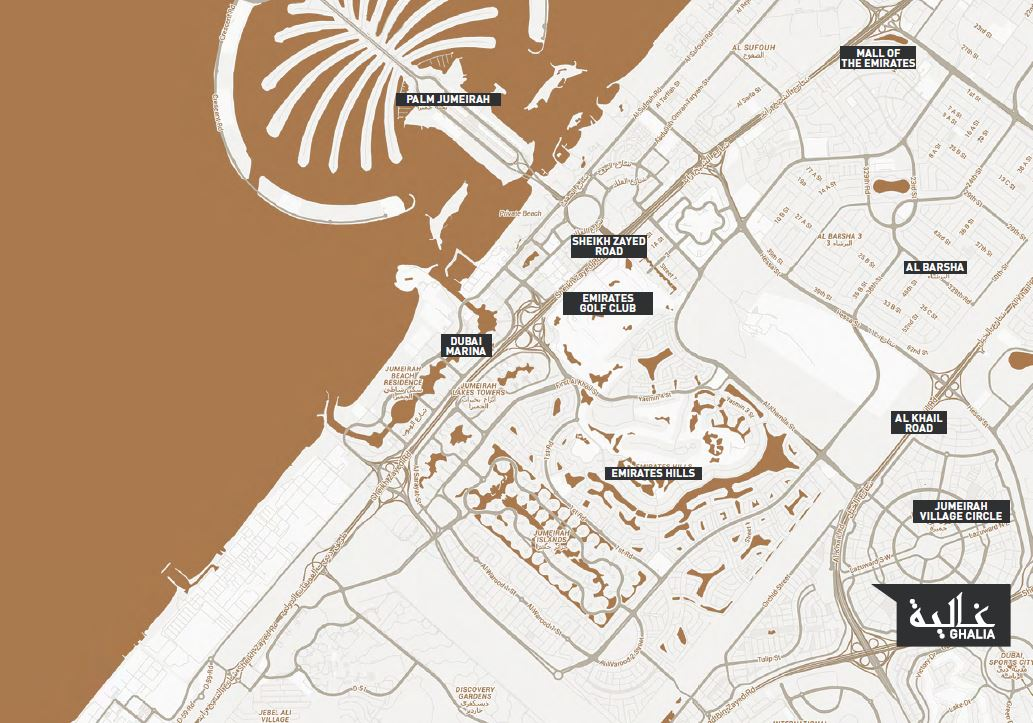 map 9 - Ghalia by DAMAC Properties