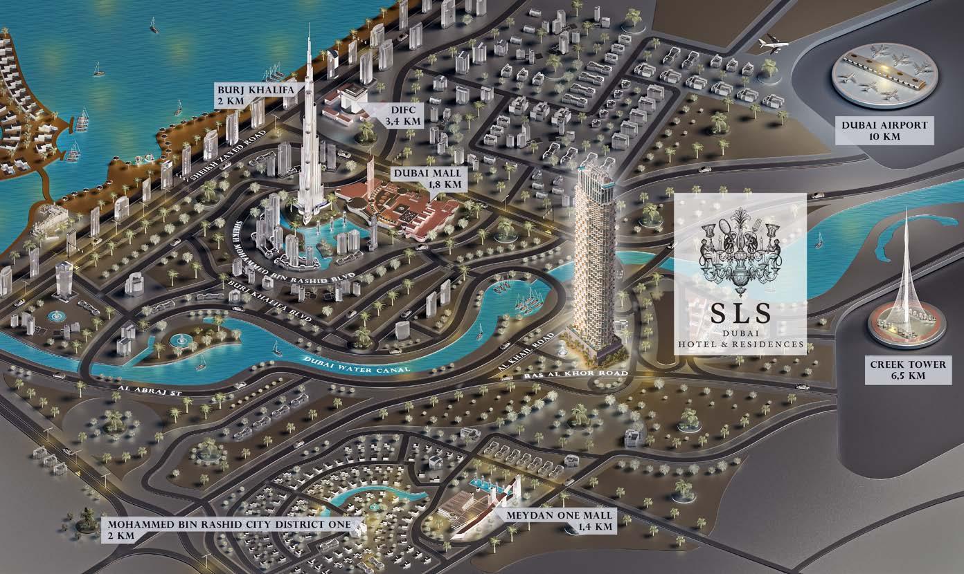 SLS Dubai Hotel Residences Map - SLS Dubai Hotel & Residences