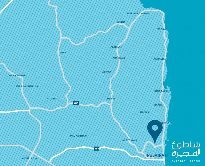 fujairah beach map
