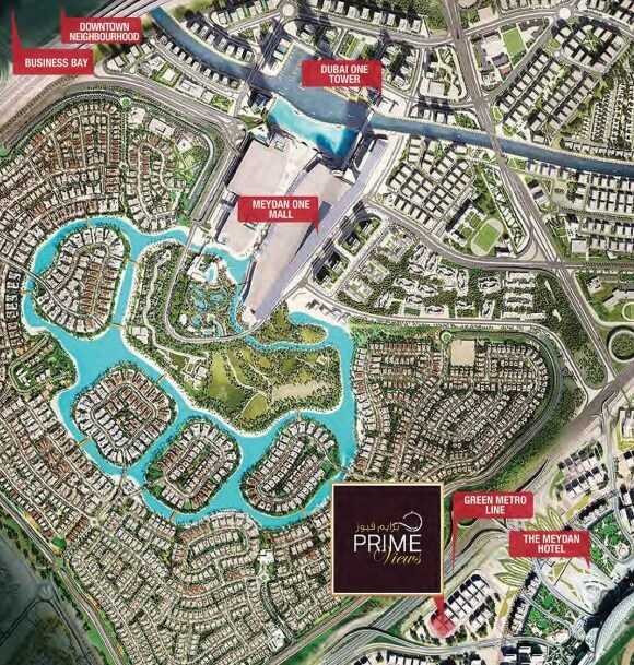 primeviews location - Prime Views at Meydan Avenue