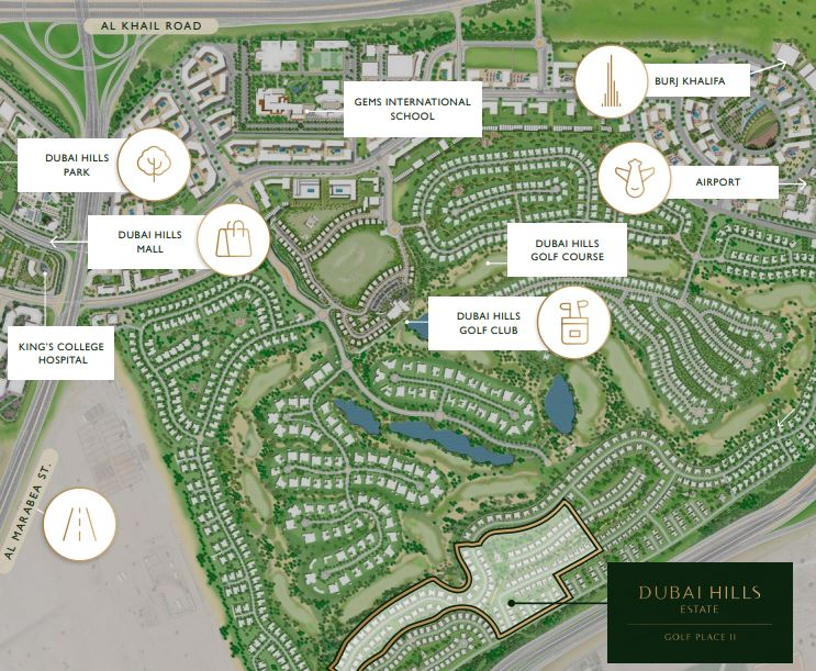 Golf Place II Map