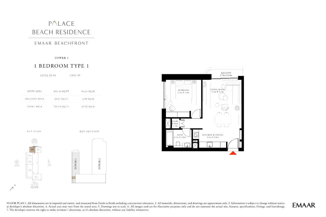 floor1 Page 03 - Palace Residences Emaar Beachfront
