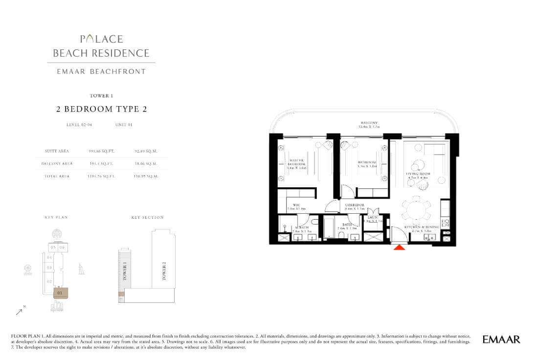 floor1第16页-Palace Residences Emaar Beachfront