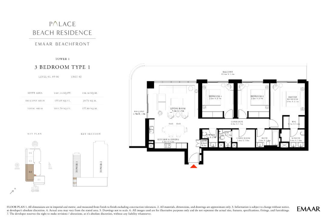 floor1 Page 18 - Palace Residences Emaar Beachfront