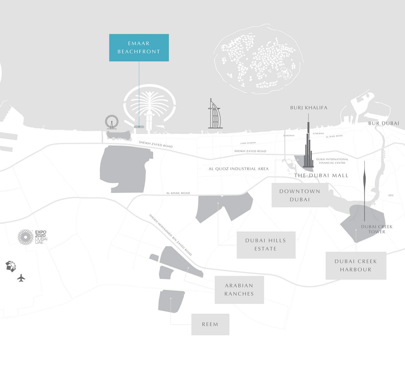 位置海滨-Palace Residences Emaar海滨
