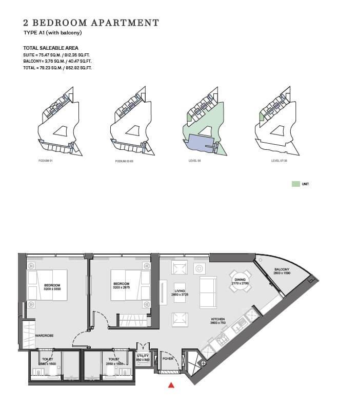 sobha floor3 - Waves - Sobha Waterfront District
