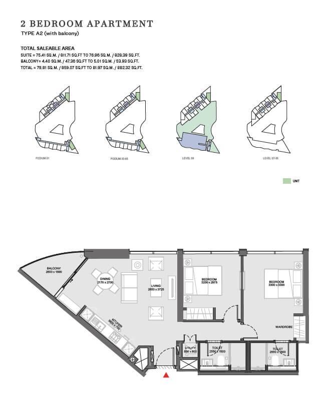 sobha floor4 - Waves - Sobha Waterfront District